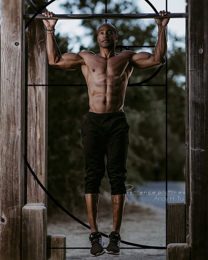 Golden Ratio Pull Up with Calisthenics athlete