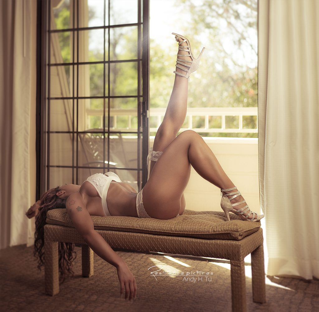 Let me lay here in the warm. Risky lace in light boudoir.