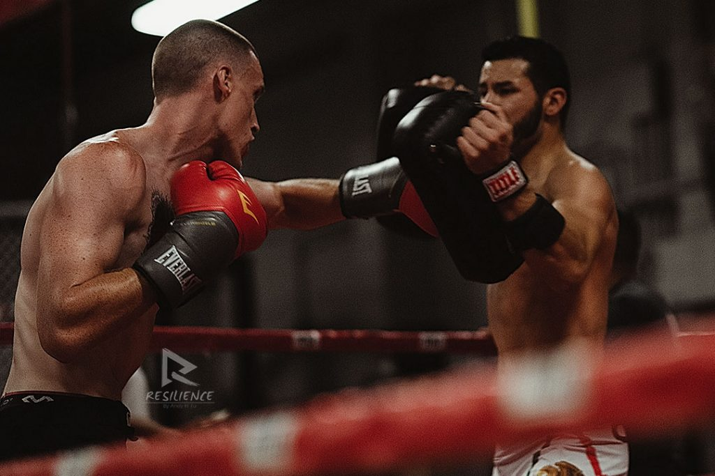 Joe-and-Luis-throwing-punches-at-the-Darkhorse-Gym,-San-Jose